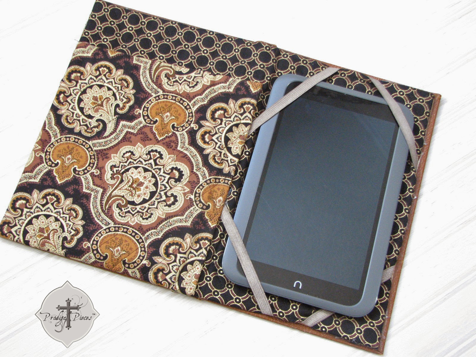Handmade Nook Kindle Cover Case with Repurposed Vintage Book via Prodigal Pieces