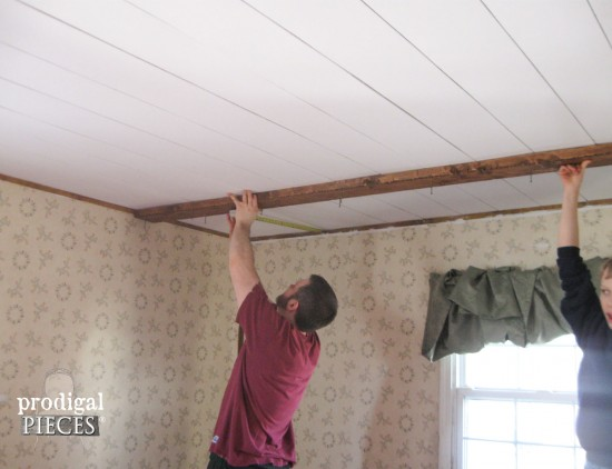 Faux Barn Beam Ceiling Master Bedroom Remodel Prodigal Pieces