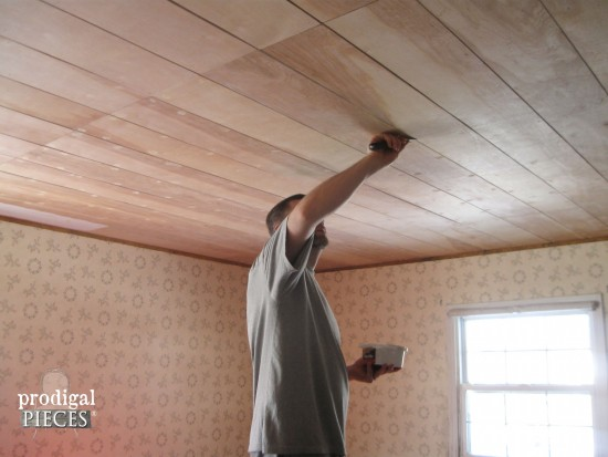 Faux plank ceiling blog avie for Faux wood ceiling planks