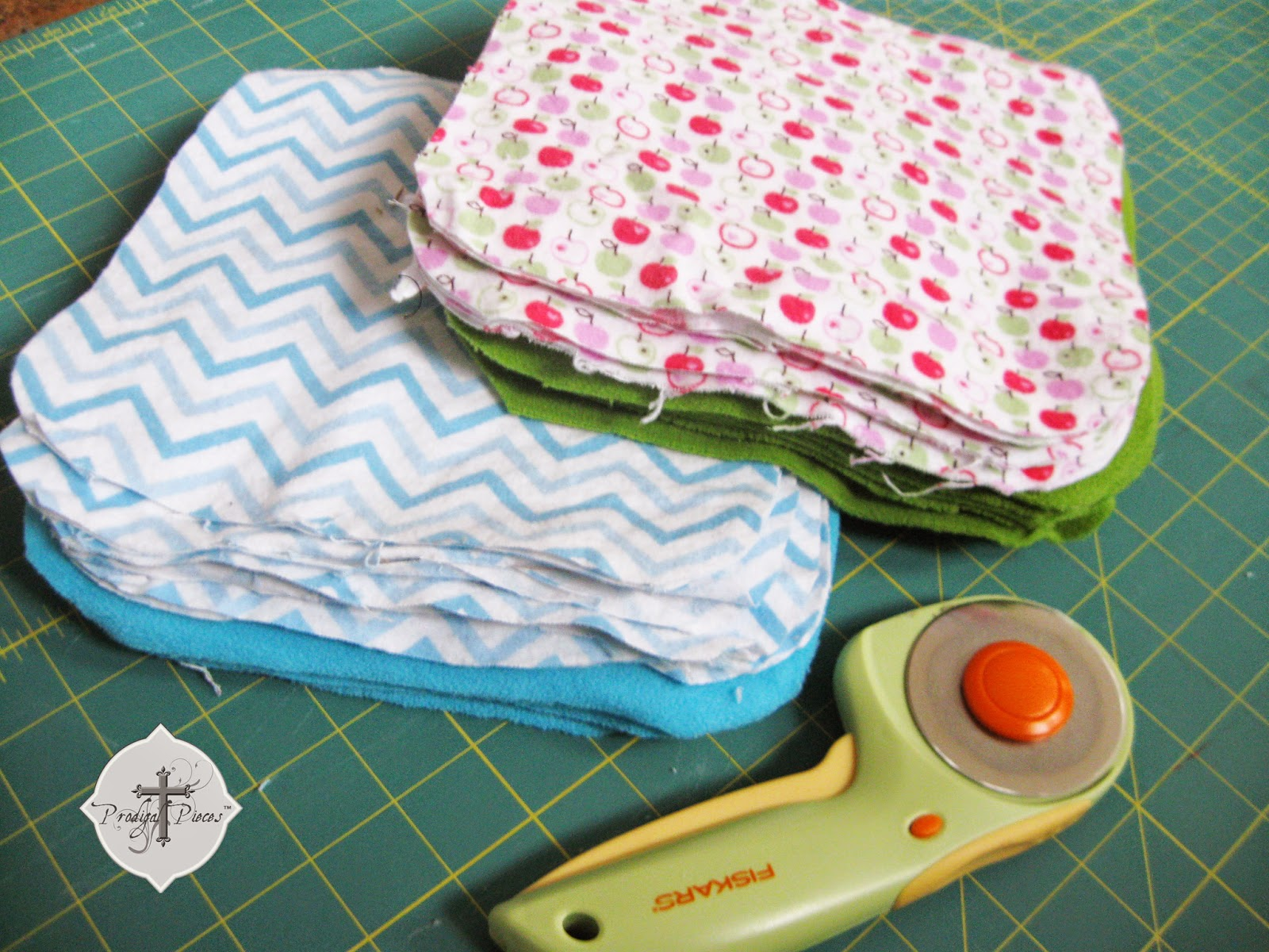 Easy Peasy Cloth Diaper Wipes Tutorial via http://www.prodigalpieces.com