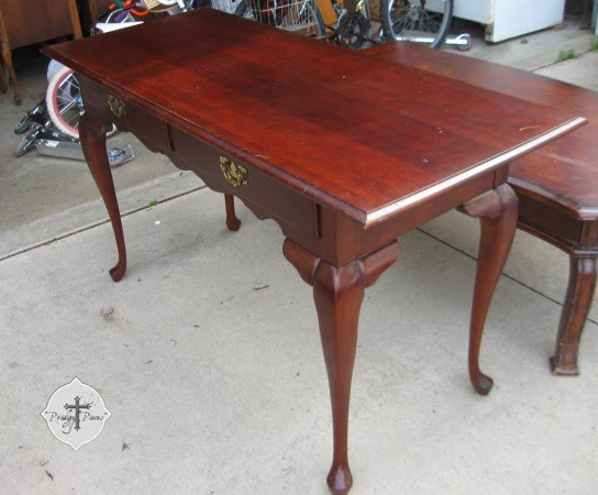 Vintage Queen Anne Library Table by Larissa of Prodigal Pieces | prodigalpieces.com
