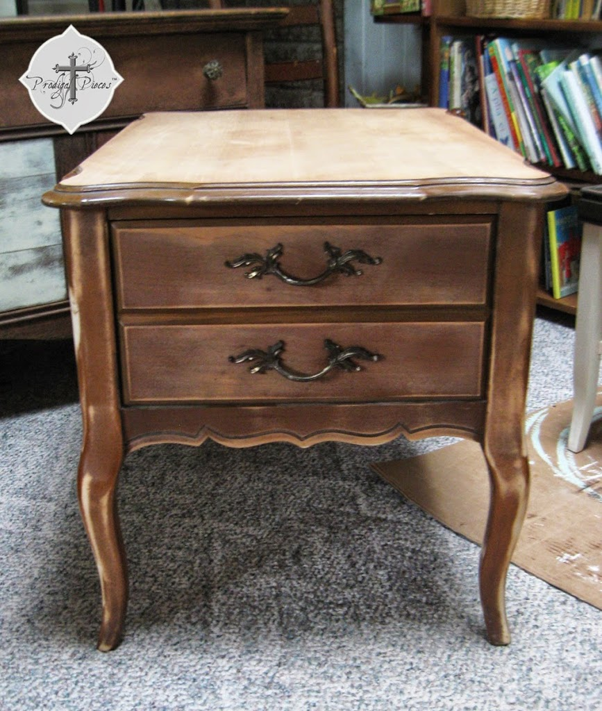 Vintage Bassett End Table Before by Larissa of Prodigal Pieces | prodigalpieces.com