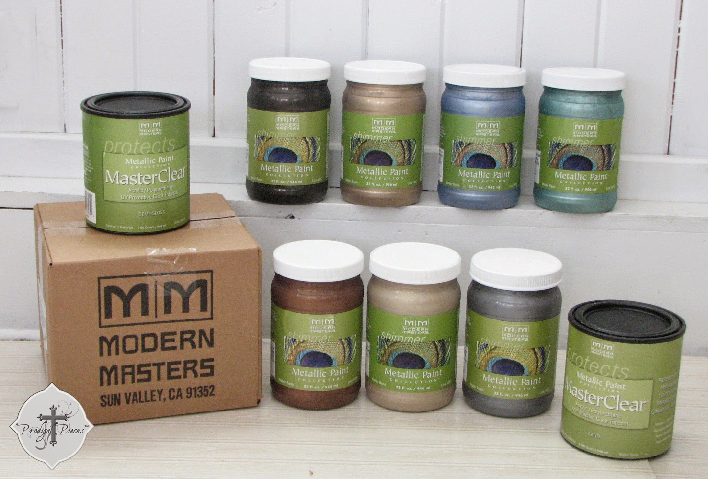 Modern Masters Metallic Paints as shown by Larissa of Prodigal Pieces | prodigalpieces.com