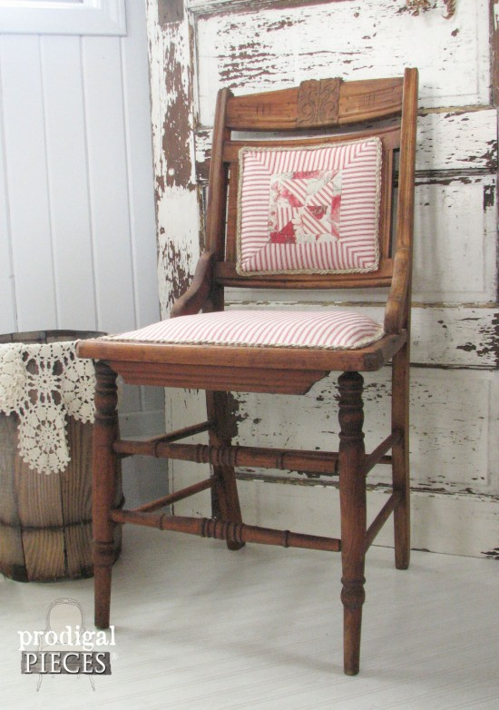 It's Antique Makeover Time with a Chair, a Foot Stool, and an Antique Wash Stand by Prodigal Pieces www.prodigalpieces.com #prodigalpieces