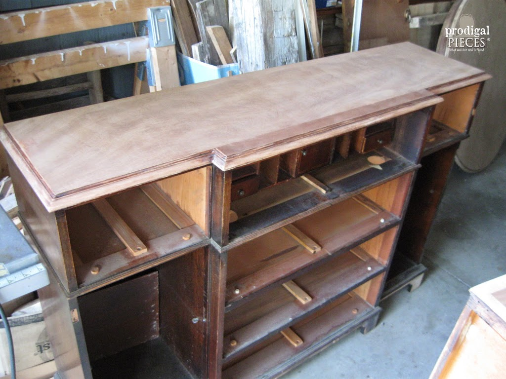 Working on Vintage Bureau | Prodigal Pieces | www.prodigalpieces.com