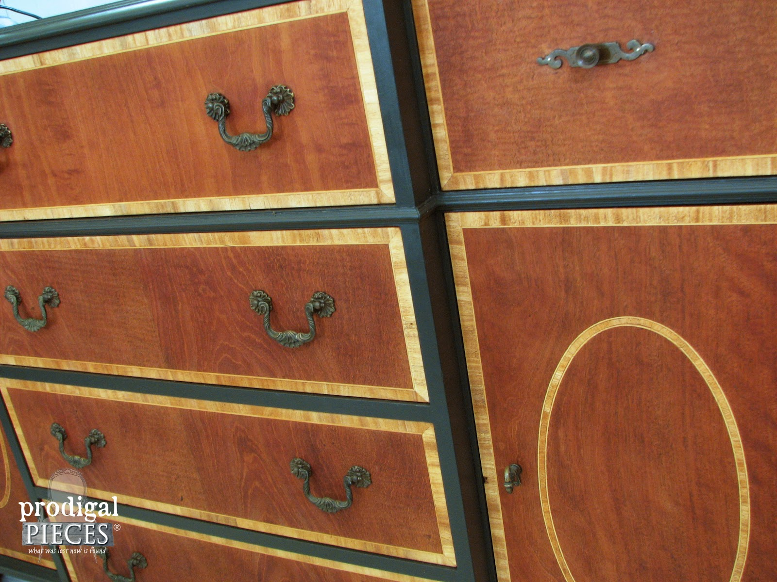 Front Face of Vintage Bureau | Prodigal Pieces | www.prodigalpieces.com