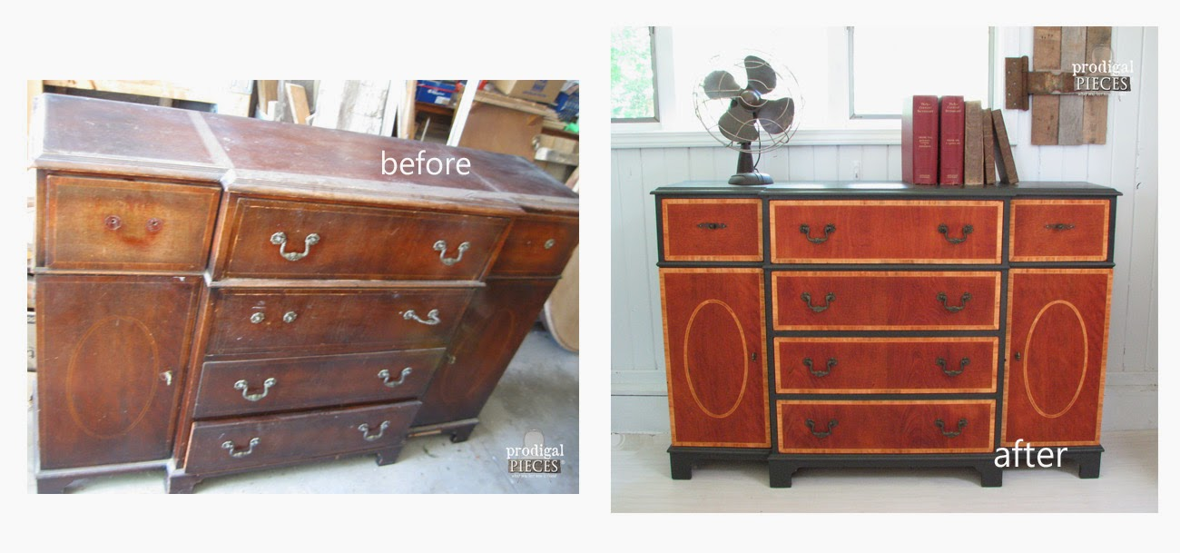 Vintage Bureau Before and After| Prodigal Pieces | www.prodigalpieces.com
