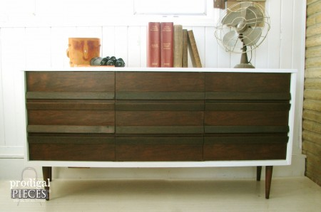 Thrift Store Bassett Credenza get a Modern Makeover by Prodigal Pieces. www.prodigalpieces.com #prodigalpieces