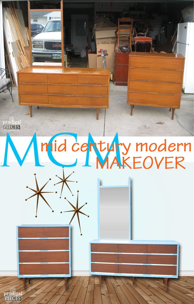 Craigslist Score Gets Funky Mid Century Modern Makeover by Prodigal Pieces www.prodigalpieces.com #prodigalpieces