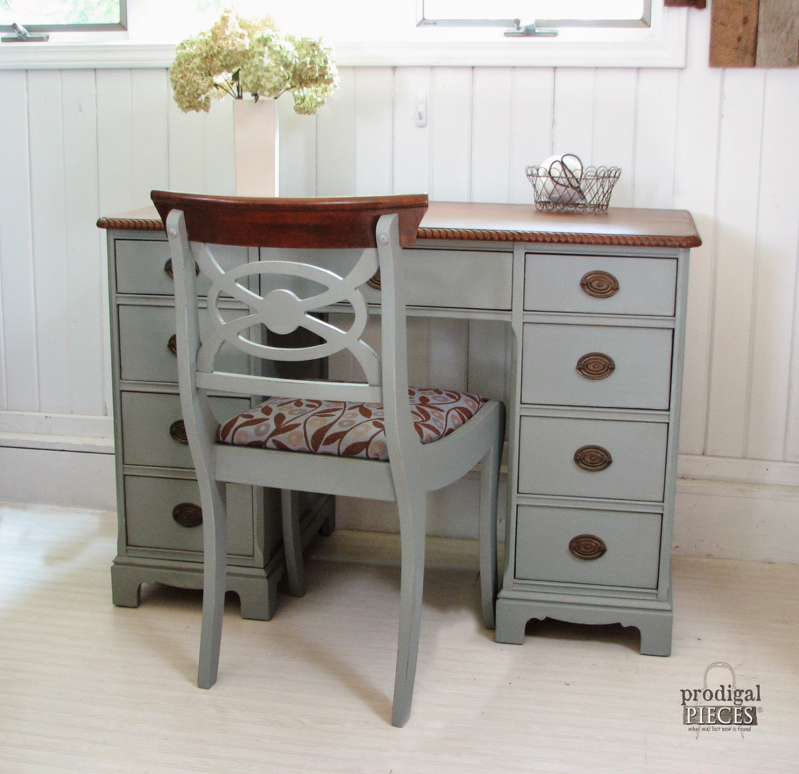 An Antique Desk Makeover by Prodigal Pieces www.prodigalpieces.com