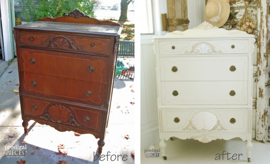 Worn Out Art Deco Carved Chest Of Drawers Gets A French Makeover Complete With Jewels By