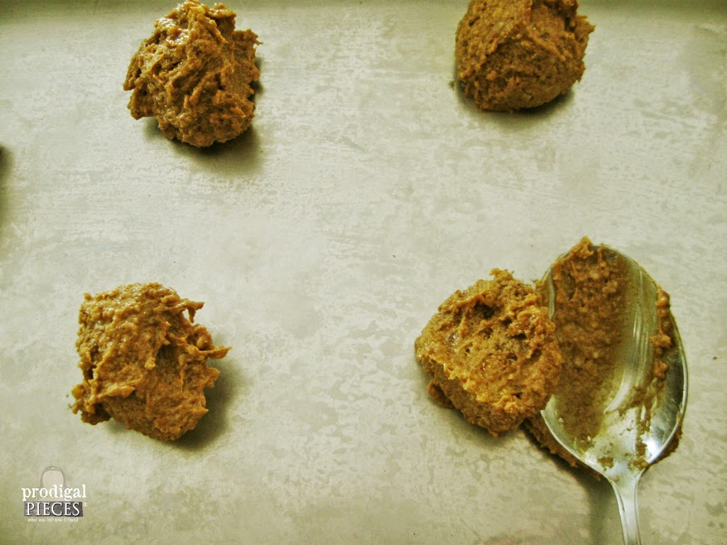 Spooning Cookies on Baking Sheet | prodigalpieces.com