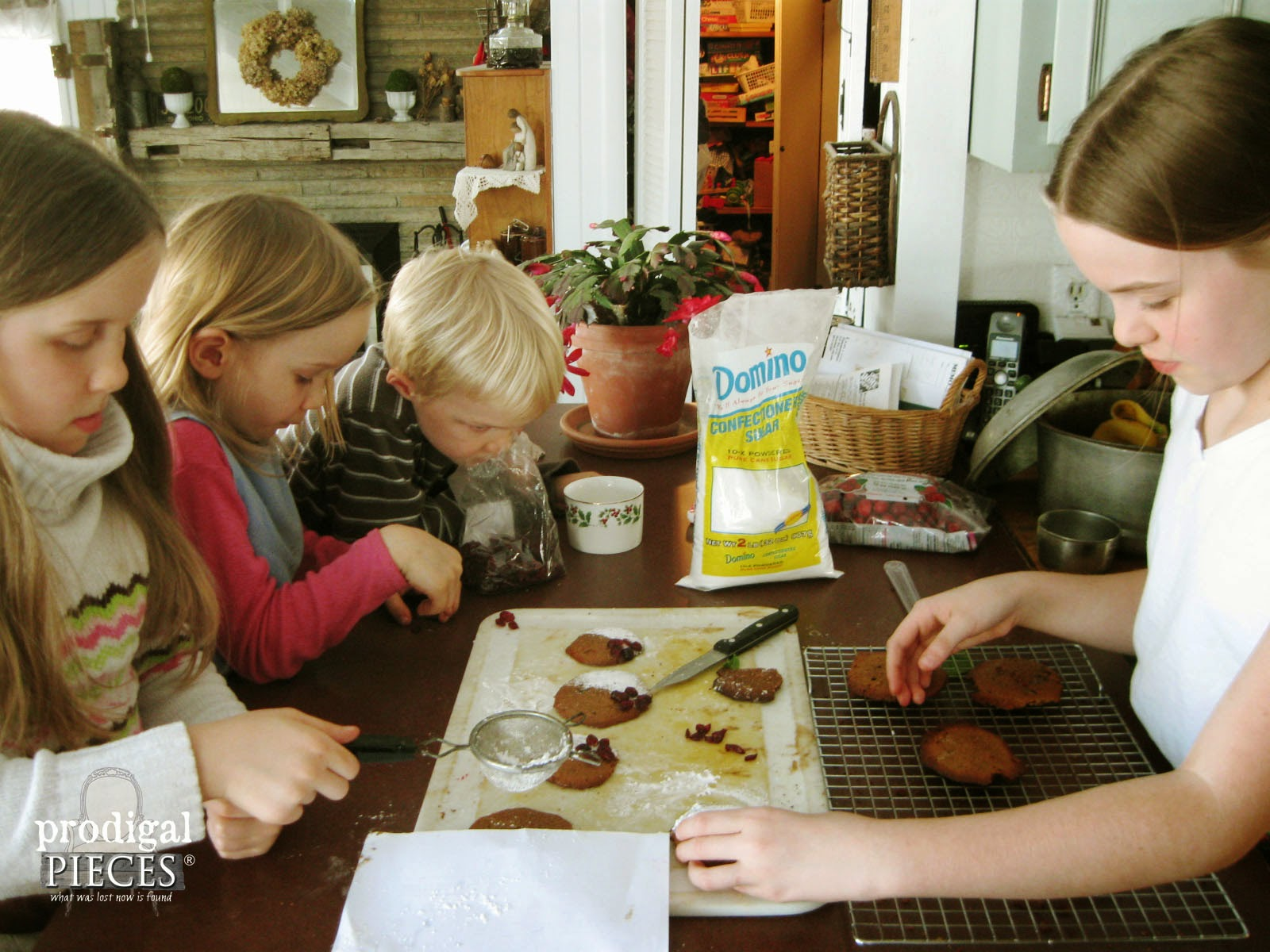 Kids Helping Decorate Cookies | prodigalpieces.com
