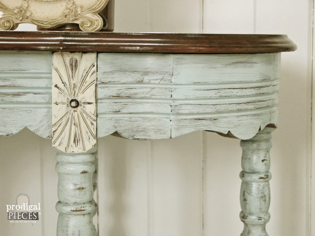 Distressed Aqua Blue Table by Prodigal Pieces | prodigalpieces.com