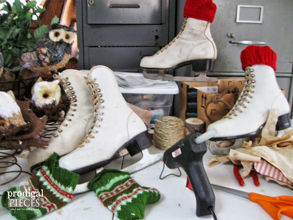 Repurposed Ice Skates by Prodigal Pieces | prodigalpieces #prodigalpieces