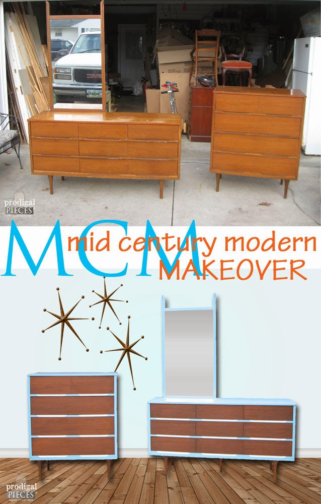 Vintage Mid Century Modern Dresser Makeover by Prodigal Pieces | prodigalpieces.com