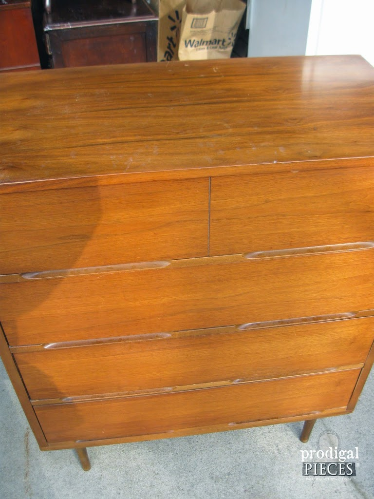 Vintage Mcm Mid Century Modern Dresser Set From Craigslist Gets Blue Makeover By Prodigal Pieces Www
