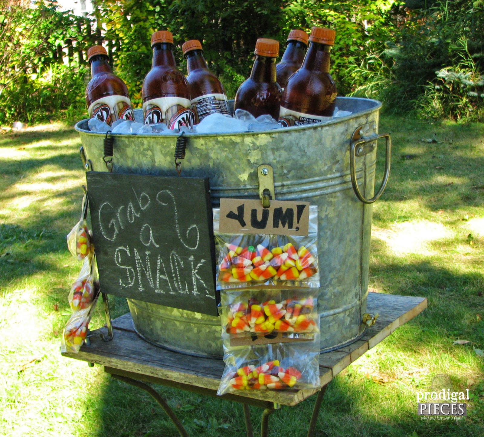 DIY Repurposed Snack & Beverage Stand Tutorial by Prodigal Pieces http://www.prodigalpieces.com