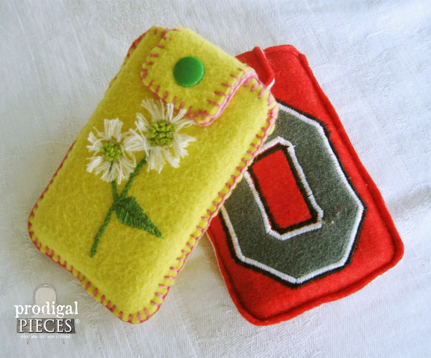 Handmade Holidays: Wool Felt Handmade Embroidered Cell Phone Cases by Prodigal Pieces www.prodigalpieces.com #prodigalpieces