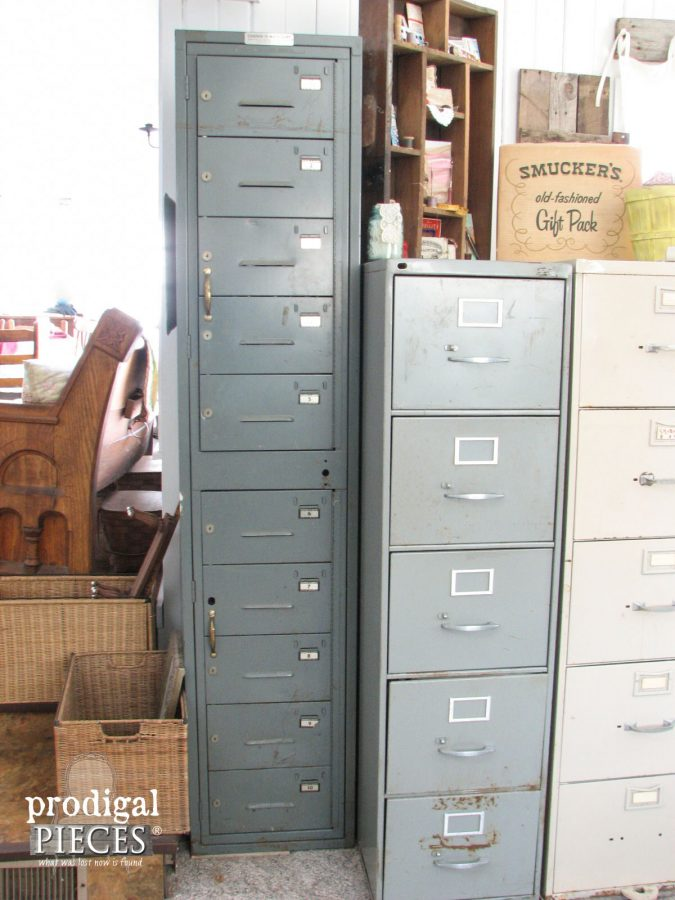 Repurposed Industrial Style Sewing Storage by Prodigal Pieces www.prodigalpieces.com #prodigalpieces