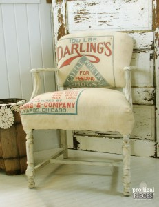 Farmhouse Style Feed Sack Chair by Prodigal Pieces www.prodigalpieces.com #prodigalpieces
