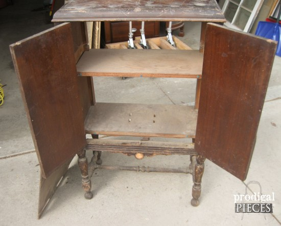 Antique Stereo Repurposed Into Sewing Cabinet By Prodigal Pieces Www Prodigalpieces