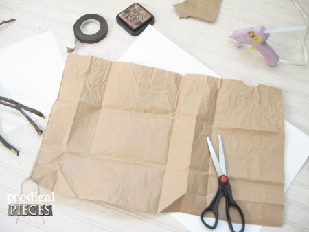 Cutting Paper Bag of Cotton Branches by Prodigal Pieces | prodigalpieces.com