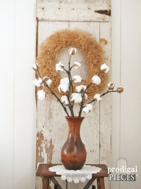 DIY Farmhouse Cotton Branches with Video Tutorial by Prodigal Pieces | prodigalpieces.com