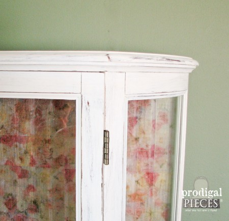 Vintage Curio Cabinet Gets Tissue Paper Transformation by Prodigal Pieces www.prodigalpieces.com #prodigalpieces