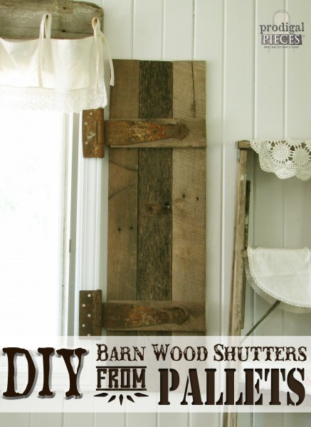 DIY Barn Wood Shutters from Old Pallets by Prodigal Pieces www.prodigalpieces.com #prodigalpieces