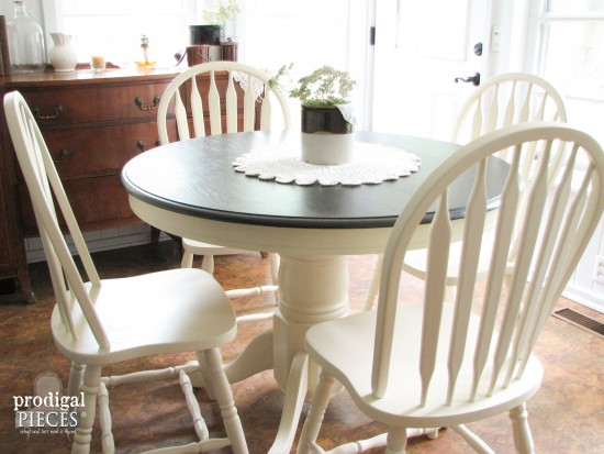 Farmhouse Dining Set Painted with HomeRight Finish Max | Prodigal Pieces | www.prodigalpieces.com