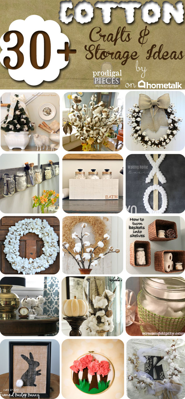 30+ Cotton Crafts & Storage Ideas on Hometalk by Prodigal Pieces www.prodigalpieces.com #prodigalpieces