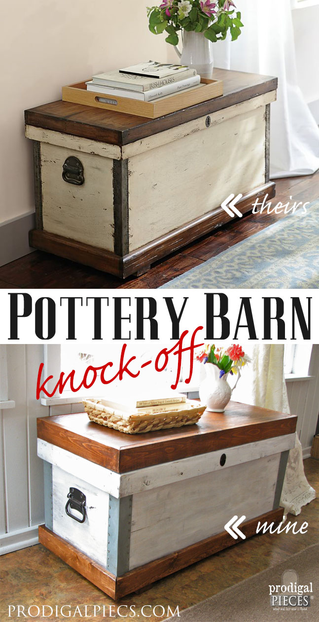 Pottery Barn Josefa Trunk Knock-Off by Prodigal Pieces www.prodigalpieces.com #prodigalpieces