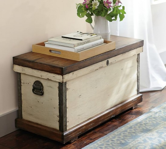 Pottery Barn Trunk KnockOff Themed Makeover Prodigal Pieces - Pottery barn trunk side table