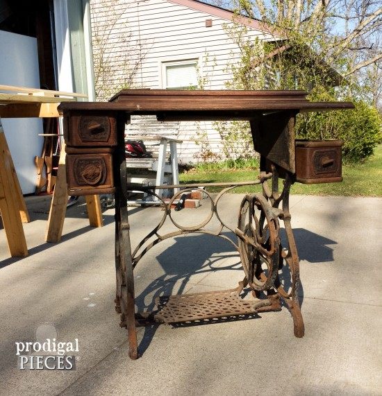 Reclaimed Sewing Machine Table Prodigal Pieces Fascinating How To Set Up A Sewing Machine Table