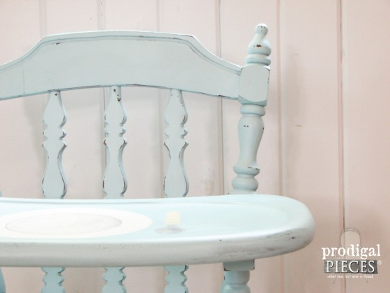 Vintage Aqua Blue Painted Highchair | Prodigal Pieces | www.prodigalpieces.com