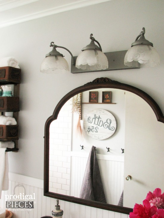 Fabulous Budget Friendly DIY Farmhouse Style Bathroom Makeover by Prodigal Pieces prodigalpieces
