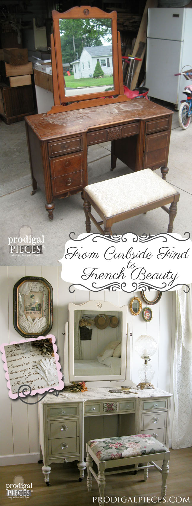 Curbside Vanity Becomes French Beauty | Prodigal Pieces | www.prodigalpieces.com