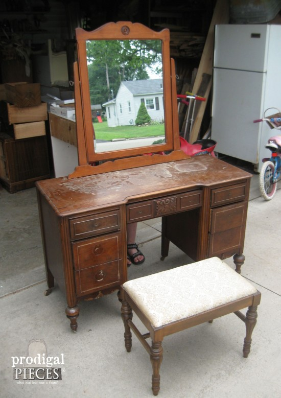 16 Amazing Vanity Makeovers from Art Deco to Antique - a must see! by  Prodigal - Vanity Makeovers ~ 16 Different Sets Redone - Prodigal Pieces