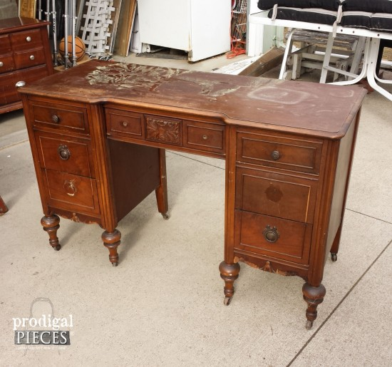Vintage Vanity Left out for Trash Gets French Makeover | Prodigal Pieces | www.prodigalpieces.com