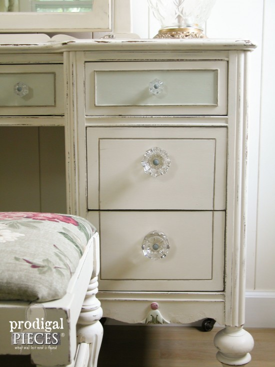 Beautiful Glass Antique Vanity Drawer Pulls | Prodigal Pieces | www.prodigalpieces.com