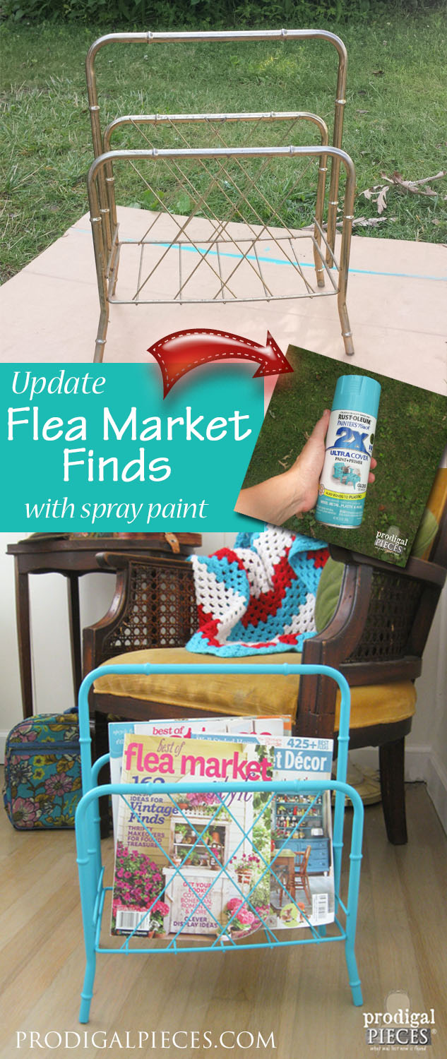 With a can of spray paint, you can update those flea market finds in no time. By Prodigal Pieces | prodigalpieces.com