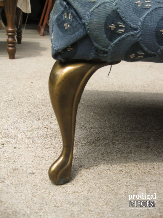 Footstool Queen Anne Legs | Prodigal Pieces | www.prodigalpieces.com