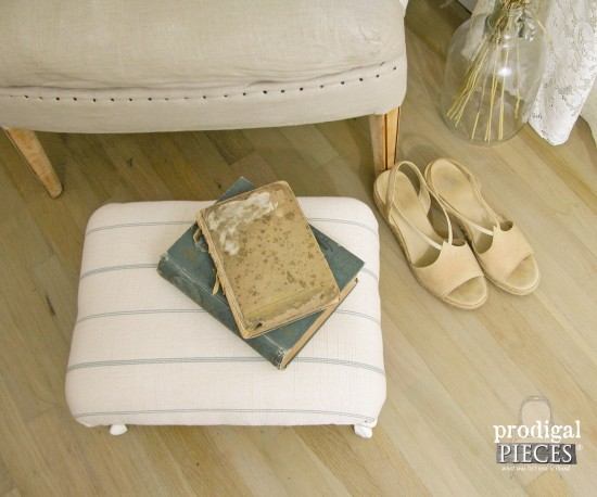 Prairie Style Footstool Makeover | Prodigal Pieces | www.prodigalpieces.com