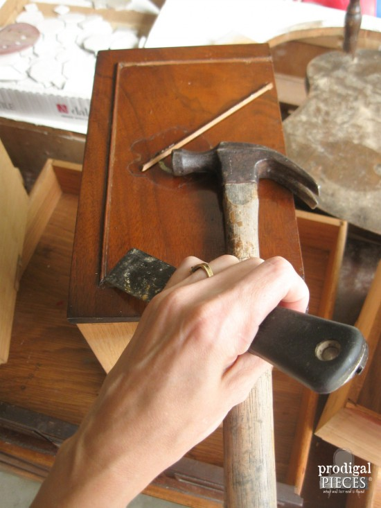Making Repairs to Antique Vanity | Prodigal Pieces | www.prodigalpieces.com