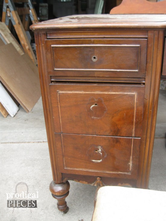 Drawers on Antique Vanity | Prodigal Pieces | www.prodigalpieces.com