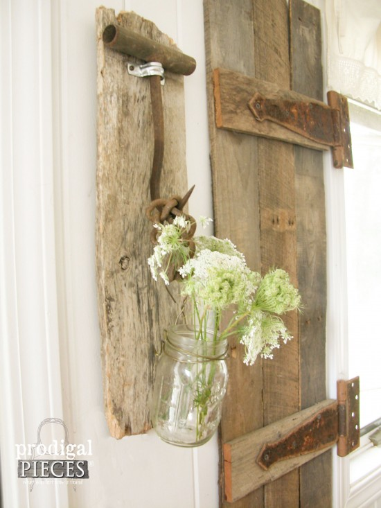 Farmhouse tools become rustic decor prodigal pieces for Barnwood pieces