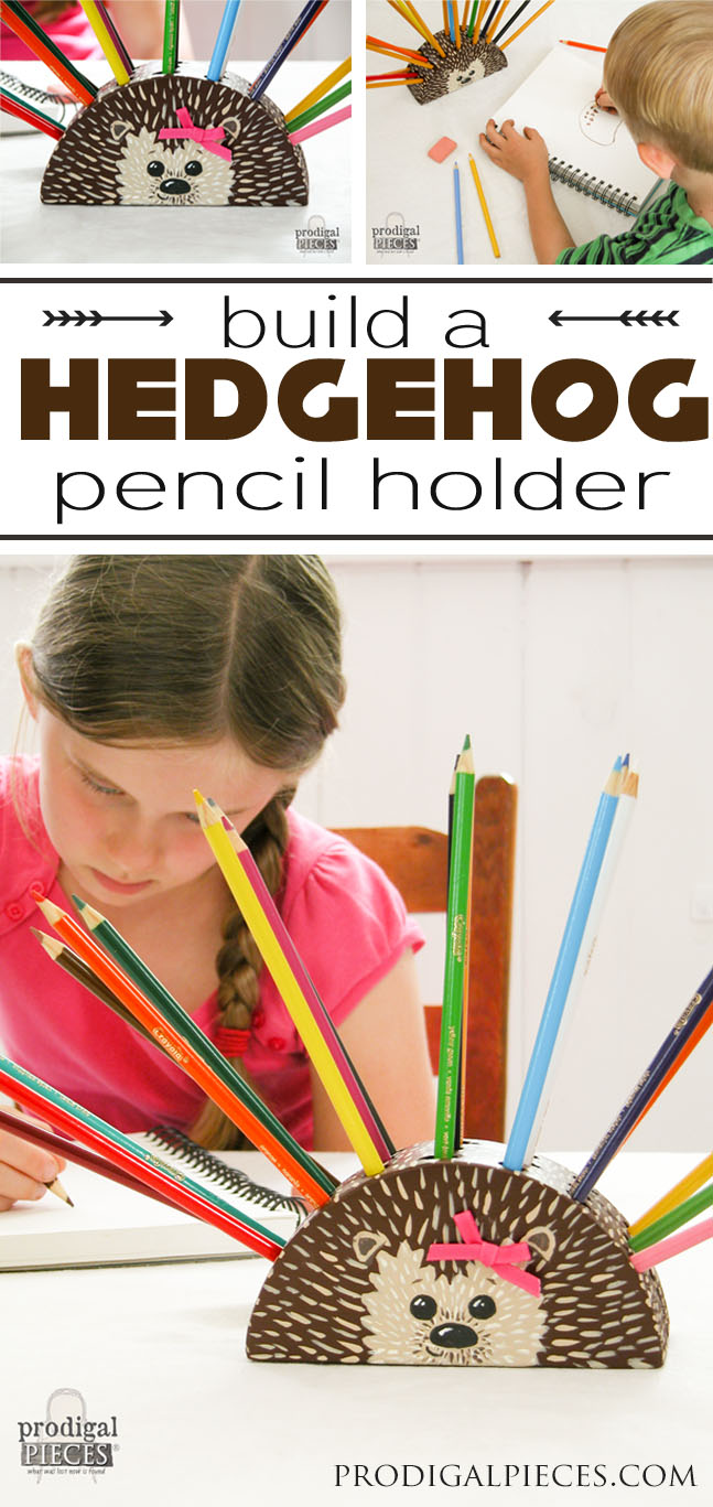 You can build this whimsical pencil holder for back-to-school, homeschool, or fun using this step-by-step tutorial. You can even take the shape and make your own character too! by Prodigal Pieces www.prodigalpieces.com #prodigalpieces