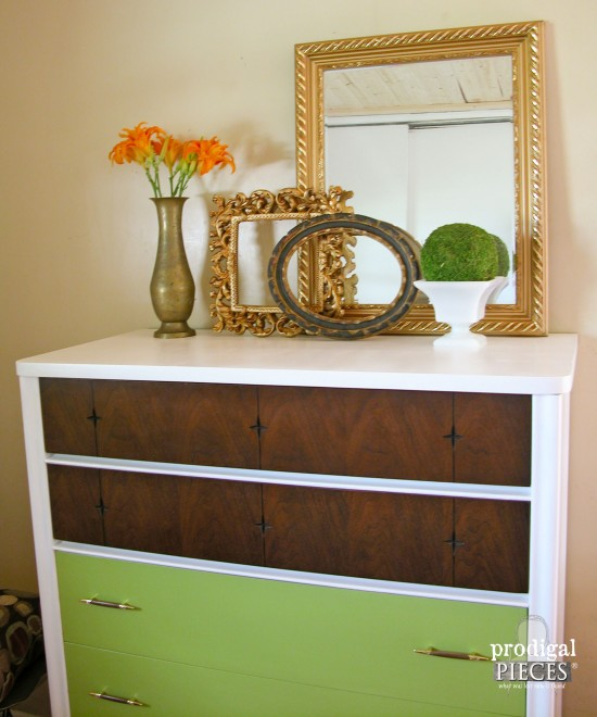 Mid Century Modern chest of drawers get a modern day update that gives it a funky new look by Prodigal Pieces www.prodigalpieces.com #prodigalpieces