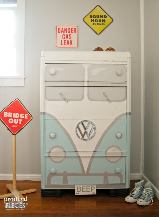 Volkswagen Bus Chest of Drawers | Prodigal Pieces | www.prodigalpieces.com #prodigalpieces